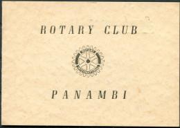 1957 Rotary International - Panambi Brazil - Photograph Card - Programs