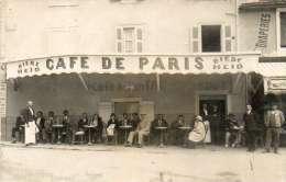 CAUTERETS - CAFE DE PARIS 6 PLACE GEORGES CLEMENCEAU  - SUPERBE CARTE PHOTO - Cauterets