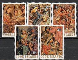 Christmas 1976 Cook Islands 507/1 ** 2€ Berühmte Weihnacht-Gemälde Königsfest Hirten Art Stamps Painting Set Of Oceanien - Cook