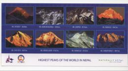 Nepal. Highest Peaks Of The World. Everest, Kanchenjunga, Lhotse, Makalu, Cho-Oyu, Dhaulagiri, Manaslu, Annapurna. - Népal