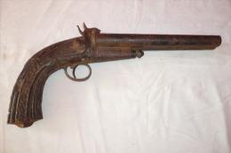 Rare Pistolet A Broche Chasse XIXeme - Armes Neutralisées