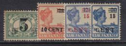 SS2685 - SURINAME , Serie Yvert  N.  107/110  * - Suriname ... - 1975