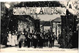 COUSSEGREY SOUVENIR DE LA FETE DU CINQUANTIEME ANNIVERSAIRE DE LA FANFARE ,TRES BEAU PLAN  ,A VOIR !! REF 34243 - France