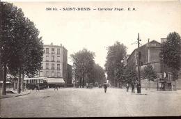 Cpa St Denis, Carrefour Pleyel, Tramway - Saint Denis