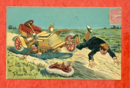 ILLUSTRATEUR DONADINI. JR - AUTOMOBILE - ACCIDENT - CPA AYANT VOYAGEE EN 1907 - Altre Illustrazioni