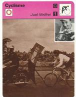 Fiche  Cyclisme- Vélo  :   éditions  A Lausanne  Suisse : José  MEIFFRET - Collections