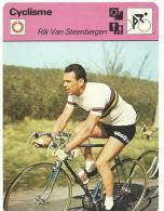 Fiche  Cyclisme- Vélo  :   éditions  A Lausanne  Suisse : Cyclocross :  Rik  Van  Steenbergen - Collections