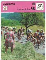 Fiche  Cyclisme- Vélo  :   éditions  A Lausanne  Suisse : Cyclocross : Tour De  Suisse - Collections