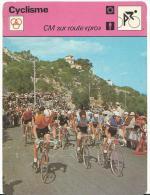"""Fiche  Cyclisme- Vélo  :   éditions  A Lausanne  Suisse : Cyclocross : Cm  Sur  Route """" Pro """" - Collections"""