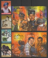 Malaysia (1999)  Yv. 711/14 + Bf. 28/28  /  Cinema - Camera - Seniman Agung - P. RAMLEE