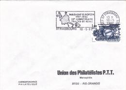 Strasbourg 1982 - Parlement Européen - Traité De Rome - Flamme + Timbre Concordant - Poststempel (Briefe)