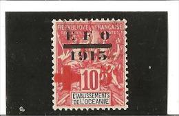 TIMBRES DE 1900-07  Avec E.F.O.  Surchargé  AU PROFIT DE LA CROIX ROUGE  N° 39  Oblitéré - Used Stamps