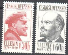 Czechoslovakia 1970 - Famous People W.I. Lenin- Michel 1939-1940 MNH (**). - Tchécoslovaquie