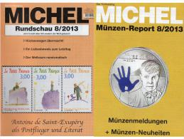 MICHEL Briefmarken Rundschau 8/2013 Neu 5€ New Stamps And Coins Report Of The World Catalogue And Magacine Of Germany - Boeken & Software