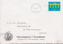 Norway OLAVSDAGENE I TRONDHEIM, TRONDHEIM 1984 Cover Brief To SVENDBORG Denmark Europa CEPT Stamp - Briefe U. Dokumente