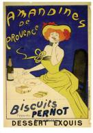 Beautiful Busty Lady French Bisuit Provence Art Postcard Leonetto Cappiello Food - 07299 - Advertising