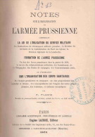 ORGANISATION ARMEE PRUSSIENNE 1871 PRUSSE SERVICE MILITAIRE FORMATION INSTRUCTION CORPS SANITAIRE CAMPAGNE GUERRE 1870