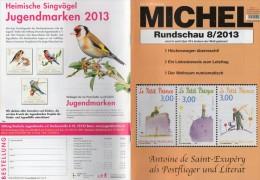 Briefmarken Rundschau MICHEL 8/2013 Neu 5€ New Stamps Of The World Catalogue Magacine Of Germany ISBN 4 194371 105009 - Germany