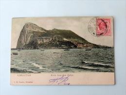 Carte Postale Ancienne : GIBRALTAR : Rock From San Felipe , Stamp 1908 - Gibraltar