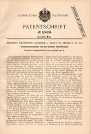 Original Patentschrift - Ch. Gilmore In Sault Ste Marie , 1900 , Drum Washing Machine , Ontario !!! - Tools