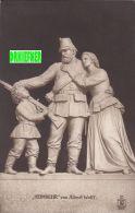 """Skulptur """"Heimkehr"""", Soldat Mit Frau Und Sohn, Von Albert Wolf, Um 1910 - Oorlogsmonumenten"""