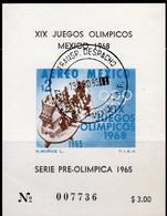 Sommer Olympiade 1965 Mexiko 1201 Block 4 ** 4€ Olympic 1968 Kalksteinplatte Kalendarium Spielszene Ball Sheet Bf Mexico - Mexiko