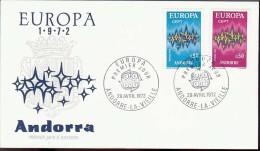 1972 - EUROPA CEPT  ANDORRE (FRANCE) - FDC - Europa-CEPT