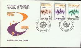 1972 - EUROPA CEPT  CIPRO - CYPRUS - FDC - Europa-CEPT