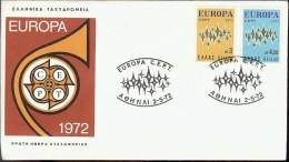 1972 - EUROPA CEPT  GRECIA - ELLAS - FDC - Europa-CEPT