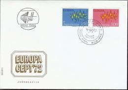 1972 - EUROPA CEPT  JUGOSLAVIA - FDC - Europa-CEPT