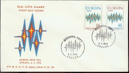 1972 - EUROPA CEPT  TURCHIA - TURKIYE - FDC - Europa-CEPT