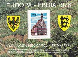 Erinnerungsblock Zur EBRIA ´78, Esslingen, Altes Rathaus - Erinnofilia