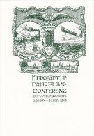 Europäische Fahrplankonferenz, Wiesbaden 1910, Reprint Des Jugendstil-Plakates, DinA 5 - Europa