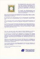 HAPAG Seepostmarke, Neudruck Von 1975, In Doppelkarte Der HAPAG-Lloyd - Erinnofilia
