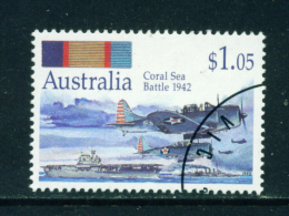 AUSTRALIA - 1992 Coral Sea Battle $1.05 Used As Scan - 1990-99 Elizabeth II