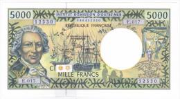 Polynésie Française / Tahiti - 5000 F CFP - Alphabet E.017 / 2013 / Signatures Barroux / Noyer / Besse - Neuf / UNC - Papeete (Polynésie Française 1914-1985)
