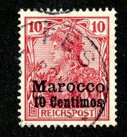(1200)  Morocco 1900  Mi.9 / Sc.9 Used Catalogue €2. - Deutsche Post In Marokko