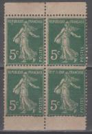 Semeuse N° 137k (Papier GC, Paire De Carnet) Neuf (*) Sans Gomme  TB - 1906-38 Semeuse Camée