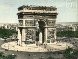 (999) France - Paris Arc De Triomphe + Postmark Eiffel Tower 1961 - Monuments