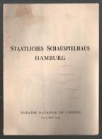 19 Au 24/05/1944 THEATRE NATIONAL De L´ODEON - Staatliches Schauspielhaus Hamburg - Bilingue Français/allemand - Programmes