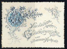 15.6.1894-Herzlichen Glückwunsch Zur Silbernen Hochzeit  Maße: 11,5 X 8,5 Cm Erhaltung: I-II, Karte Wird In Klarsichthül - Hochzeit