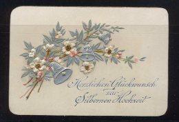 Herzlichen Glückwunsch Zur Silbernen Hochzeit  Maße: 10,5 X 7,2 Cm Erhaltung: I-II, Karte Wird In Klarsichthülle Verschi - Hochzeit