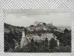 """RARE:   Belle CPA:   """"CORBERE-d'AMONT - Le Village En Ruines, Le Château Féodal - Eglise Romane St-Pierre-du-Bois"""" - Altri Comuni"""