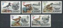 115 ALDERNEY AURIGNY 1984 - Oiseaux - Neuf Sans Charniere (Yvert 13/17) - Alderney