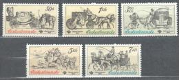 Czechoslovakia 1981 - Historical Post Cabs Michel 2598-2602 MNH (**). - Tchécoslovaquie