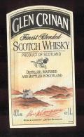 Etiquette De Scotch Whisky  -  Glen Crinan  -  Ecosse - Whisky