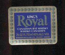 Etiquette De  Whisky  -  King's Royal  -  Canada - Whisky