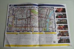 Alt374 Mappa, Piantina Stradale Centro Torino, Linee Bus, Autobus, Tram Storici, Tramway, CremaglieraTurin City Centre, - Mappe