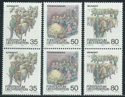 Liechtenstein 1989 Nuovo** - Mi.971/3  Yv.912/4  Coppia - Nuovi