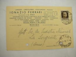 ROVIGO  ---  IGNAZIO  FERRARI  -- LIBRERIA  -CARTOLERIA -- MUSICA - Rovigo